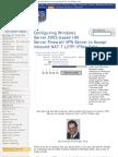 Configuring Windows Server 2003-Based Isa Server Firewall VPN Server to Accept Inbound Nat-T l2Tp Ipsec Calls