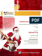 American Christmas Mash Up Rondo of Best Christmas Songs Clarinet Trio