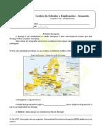 A.4.3 - Ficha de Trabalho - A União Europeia