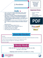 weekly newsletter january 14th