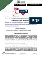Enunciado Producto académico N°1 - PLANIFICACIÓN Y CONTROL DE LA PRODUCCIÓN