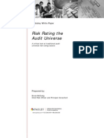 RISK RATING THE AUDIT UNIVERSE