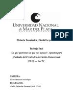 Failla - Frente de liberación homosexual en Argentina