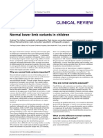 Normal Lower Limb Variants in Children