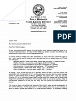 Letter From Third Judicial District Chief Public Defender June 3, 2010