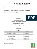 The report is about Corporate Governance of SQUARE Pharmaceuticals Company Ltd.