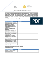 Policy and Action - Sample Reporting Template - Spanish