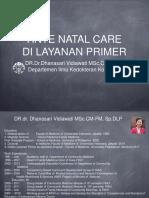 Kuliah Ante Natal Care Dr Dhanasari UI