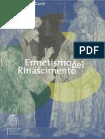 Eugenio Garin-Ermetismo Del Rinascimento-Edizioni Della Normale (2012)