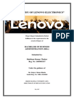 Brand Study of Lenovo Electronics - Projec Report.pdf