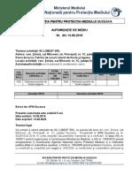 Autorizatie de mediu SC Lubest SRL fabrică de Sucuri de Fructe Şi Legume