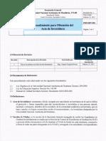 Procedimiento Obtencion Acta Investidura