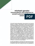 Michael Gendre Transcendencia e Julgamento Fenomenologia Da Ação