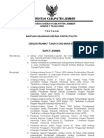 Peraturan Daerah Kabupaten Jember Nomor 3 Tahun 2006 Tentang Bantuan Keuangan Kepada Partai Politik