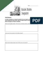 black death inquiry booklet