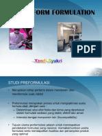 1. Dosage Form Formulation & Development