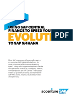 Accenture Using SAP Central Finance to Speed Your Evolution to Sap S4Hana