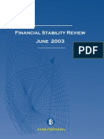 Bank Indonesia, Financial Stability Review I, June 2003