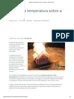 Efeitos Da Temperatura Sobre a Madeira - Ambiente SST