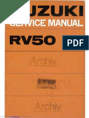 SUZUKI RV 50 manuale istruzioni manuale rv50 owner/'s manual