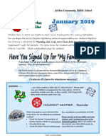 Arklan School January 2019 Newsletter