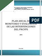 Plan Anual de Monitoreo y Evaluacion 2016