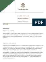 Papa Francesco 20180808 Udienza Generale