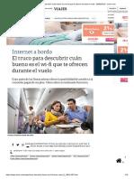 El Truco Para Descubrir Cuán Bueno Es El Wi-fi Que Te Ofrecen Durante El Vuelo - 30-09-2018 - Clarín.com