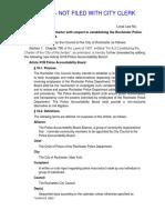 Draft of Police Accountability Board legislation