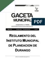 Reglamento IMPLAN Durango.pdf
