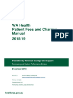 WA Health Fees and Charges Manual
