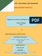 Hegemonia nortasun kolektiboen eraikuntzan - Mario Zubiaga