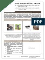 Cedula Informativa de Proyectos 2019 Apoyo Para Infrestructura y Equipamiento de Las Especies Menores