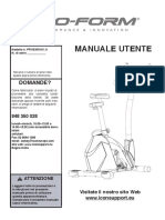 Cyclette PFIVEX51811.0 Manual ITA