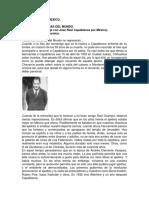 Memorias de Un Viaje Con José Raúl Capablanca Por México - Carlos Fruvas