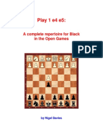 Nigel Davies - Play 1.e4 e5! - A Complete Repertoire for Black in the Open Games