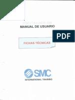 Componentes del módulo de prácticas de Neumática e Hidráulica