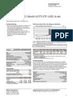 Fact Sheet Ubs Etf Msci World Usd a-dis Ie00b7kq7b66 de 20180430