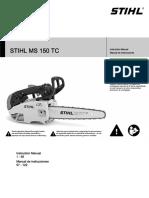 Stihl Ms 150 Tc Owners Instruction Manual