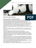 Diario di un anno in Rwanda