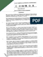 Resolución 587 COMEXI Salvaguardia Parabrisas Ecuador