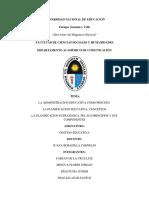 La Administracion Educativa y El PEI