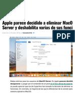 Apple Parece Decidido a Eliminar MacOS Server y Deshabilita Varias de Sus Funciones