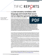 Human Ancestry Correlates With Language and Reveals That Race is Not an Objective Genomic Classifier