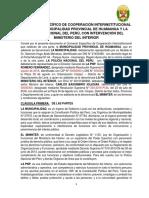 Convenio Específico de Cooperación Interinstitucional Entre La Policia Nacional Del Perú y La Mun