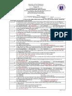 Periodical Examination 3rd Quarter