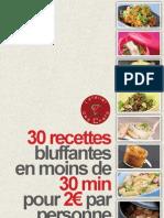 30 recettes récentes à 2 euros
