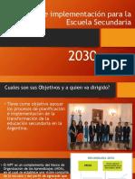 Implementacion para la escuela secundaria 2030, proyectar a Futuro.