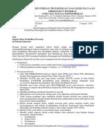 Surat Informasi Pelaksanaan Ogn Dikmen & Diksus Tahun 2019