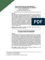 Gestão Estratégica Da Informação Na Logística e No Transporte de Cargas